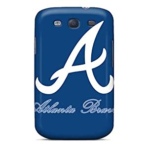 SSizemore Scratch-free Phone Case For Galaxy S3- Retail Packaging - Atlanta Braves