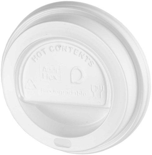 Disposable Biodegradable Thali Outlet 1000 x White White Sip-Though Lids Fits 10oz 12oz 16oz 20oz Paper Cups