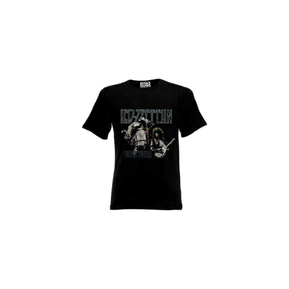 Led Zeppelin   75 Page Plant (T Shirt, schwarz) Bekleidung