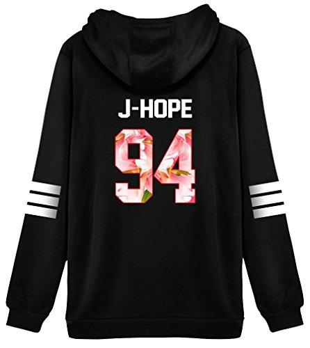 Pink Peri Kpop BTS Hoodie Sweater J-Hope Jacket Pullover