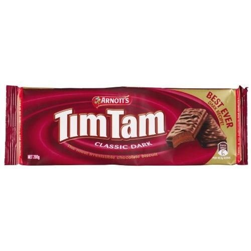 Tim Tam Classic Dark Chocolate Biscuit Cookie 165g (Pack of 6)