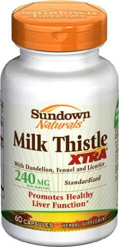 Sundown  Milk Thistle XTRA Capsules - 60ct Bottles (Pack of 2)