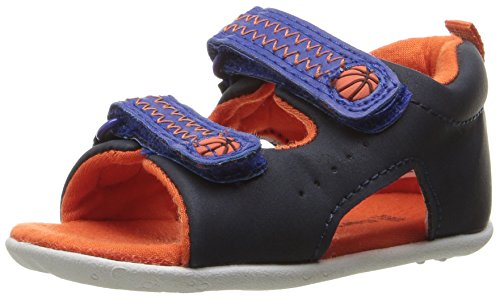 Carter's Every Step Stage 2 Boy's Standing Shoe, Wilson, Navy/Blue/Orange, 5 M US Toddler