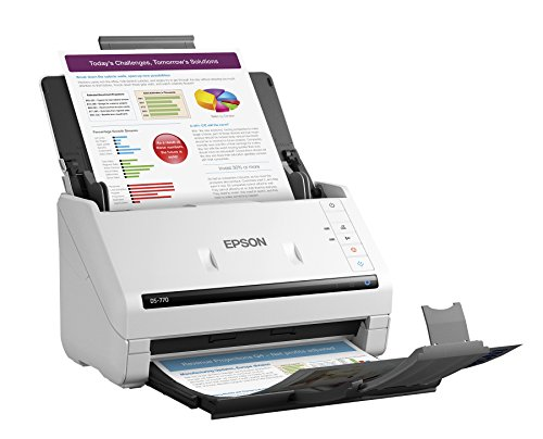 Epson DS-770 Document Scanner:  45 ppm, TWAIN & ISIS Drivers, 3-Year Warranty with Next Business Day Replacement by Epson