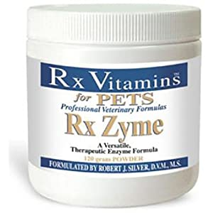 Rx Vitamins for Pets Rx Zyme for Dogs & Cats – Help Gastrointestinal Discomfort – Add to Food –  120g Powder