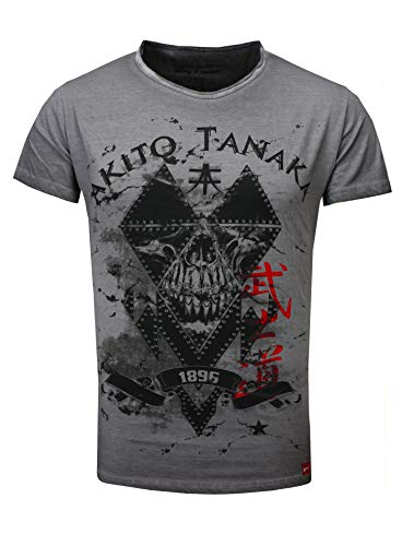 Tanaka Vintage T antracite Skull insipido Soldier shirt Man Akito Look HqERwEP