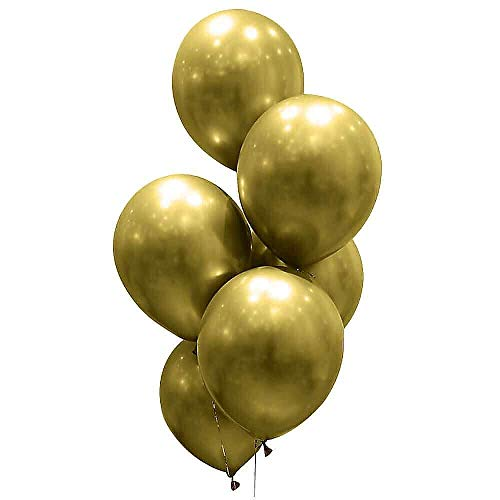Jeuristic Gold Metallic Balloons - 12 Inch 3.5 Grams 40 Pack Thick Shiny Chrome Latex Helium Party Balloons for Birthday Wedding Baby Shower Party Decorations