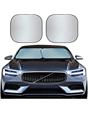 EcoNour Premium Car Windshield Sunshade with Easy Read Size Chart-Universal Fit for Car, SUV, Van,Truck-. 210T Nylon Material