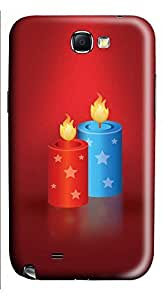 Samsung Note 2 Case Festive candles 3D Custom Samsung Note 2 Case Cover