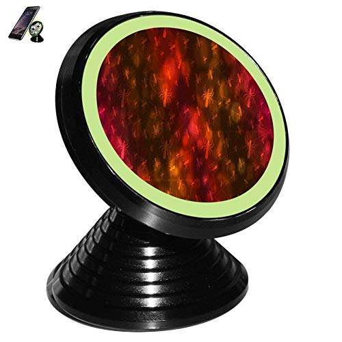 Colorful Spider Wallpaper Magnetic Vehicle Mounted Mobile Phone Bracket Holder 360 with Noctilucent Function