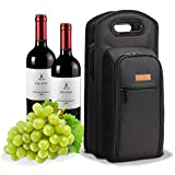 ALLCAMP 9 Piece Wine Travel Bag Wine Insulated Cooler Bag ,2 Bottle Wine Carrier Tote Bag Two Sets of Tableware for Picnic Review