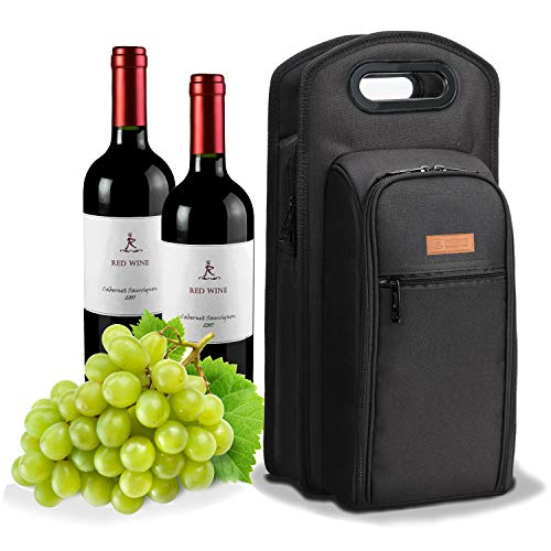 (ALLCAMP 9 Piece Wine Travel Bag and Insulated Wine Carrier Tote Carrying Cooler Bag with Handle,Great Gift for Wine Lover,)