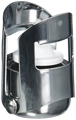 Paderno World Cuisine Champagne Stopper, Stainless Steel with Hinged Sides