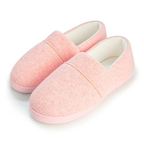 CYBLING Womens Indoor Slipper Breathable Comfort Warm Non-Slip Shoes Soft Sole Pink F8Y9tsnKb