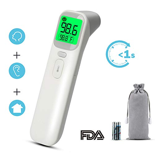 Baby Thermometer, Ultra-Fast Forehead and Ear Reading - Latest Upgraded Medical Infrared Technology - 4 Modes for Digital Accuracy for Baby and Adults (Fetal Approved Doppler Fda)