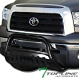 2011 toyota tundra grill guard - Topline Autopart Black Bull Bar Brush Push Front Bumper Grill Grille Guard With Skid Plate For 07-18 Toyota Tundra ; 08-17 Sequoia