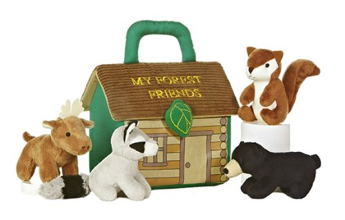 Woodland Plush - ebba Baby Talk Carrier, My Forest Friends Playset