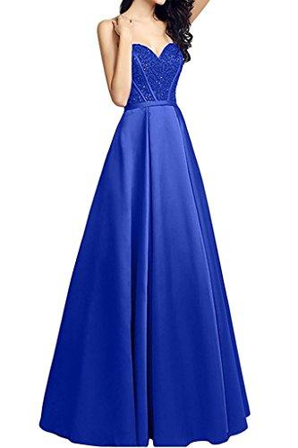 Satin Linie Jaeger Lang A Gruen Brautmutterkleider Herzausschnitt Abendkleider Braut Partykleider Rock La Blau Marie Royal H8xPqwHS