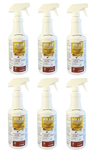 $averPak 6 Pack – Includes 6 One Quart Bottles of JT Eaton Kills Bedbugs, Ticks & Mosquitoes Permethrin Clothing & Gear Treatment Trigger Sprays by $averPak