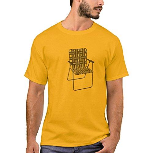 Zazzle Men's Basic T-Shirt, Lawn Chair T-Shirt, Gold ()