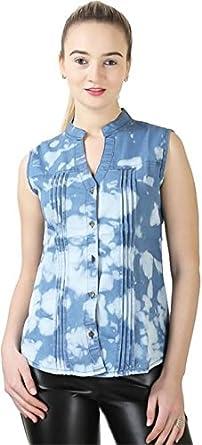 Trendyfrog Women/Girls denim badal SL light Women's Blouses   Shirts