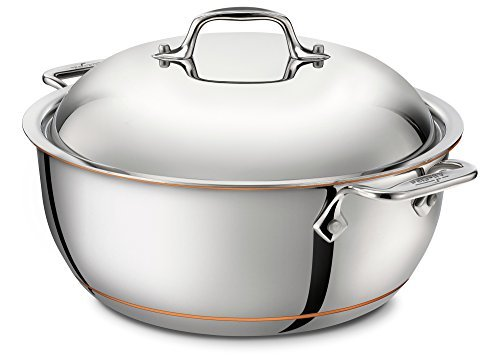 All-Clad 6500 SS Copper Core 5-Ply Bonded Dishwasher Safe Dutch Oven with Lid / Cookware, 5.5-Quart, Silver by All-Clad