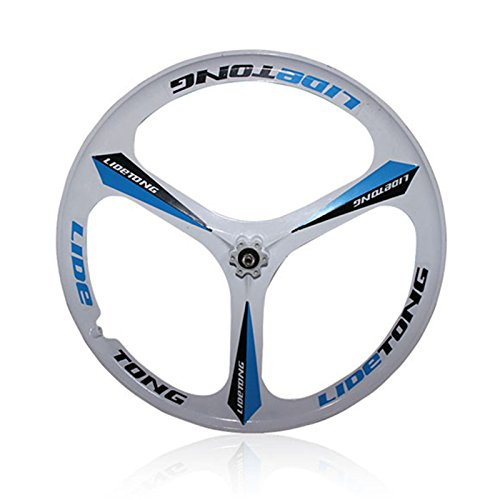 MTBリム24/26インチマウンテンバイクホイール3スポークマグネシウムアルミ合金自転車リムベアリングタイプサポートクイックリリース B07D8KWD2F 24インチ|白靑 白靑 24インチ
