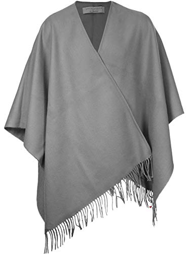 - Ladies Shawl Wrap Lambswool Steel Charcoal Grey Tartan 142 x 180 cm