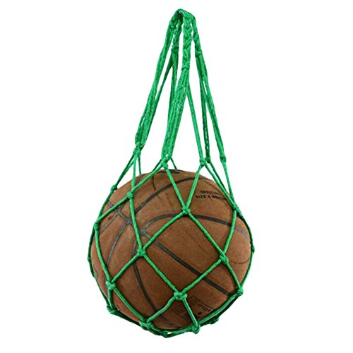 George Jimmy Green Basketball Grid Net Bag Fashion Volleyball Mesh Bag Storage by George Jimmy (Image #1)