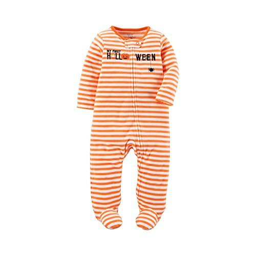 (Carter's Just One You Baby Unisex Stripe Halloween Sleep N' Play- Orange (3 Months))