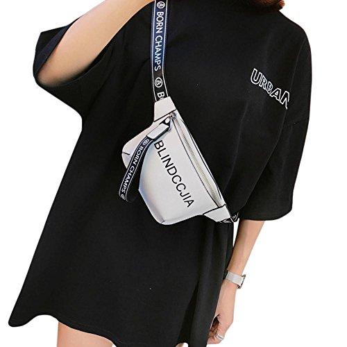 al Leather PU Mujer Hombro Bolso para Negro Blanco Negro Pawaca xwCS7qx