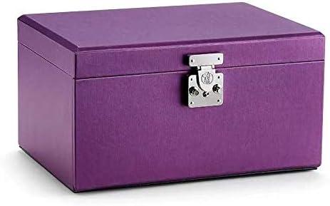 ジュエリーボックス、時計ボックスリングボックスブレスレットボックスのネックレスの収納ボックス大容量の収納ボックスマルチレイヤの宝石箱王女ヨーロッパのストレージボックスウェディングギフトボックス 宝石箱haie'shop (Color : Purple)