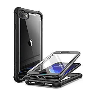 i-Blason Ares Designed for iPhone SE 2020 Case/iPhone 7 Case/iPhone 8 Case, [Built-in Screen Protector] Full-Body Rugged Clear Bumper Case for iPhone SE 2020/ iPhone 8/ iPhone 7 (Black) (iPhone-ares)