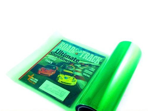 12 by 48 Inches Self Adhesive Headlight, Tail Lights, Fog Lights Tint Vinyl Film (12 X 48, - Green Tint Of