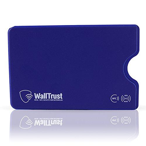crédit plastique 3 de porte Housse ensemble protection de Walltrust de bleu ensemble Rfid pour cartes x8xw4n07q