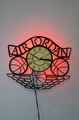 Air Jordan Design Wall Light, Night Light Function, Car Original Home Interior Decor, Wall Lamp, Perfect Gift (Red) by Home Decor Accents