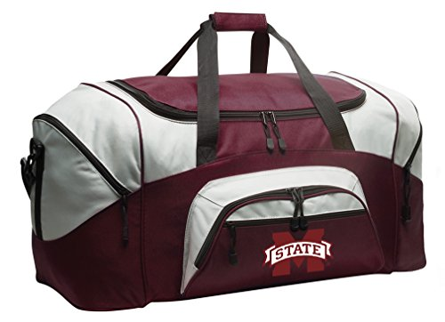 MSU Bulldogs Gym Bag Deluxe Mississippi State University Duffle Bag -