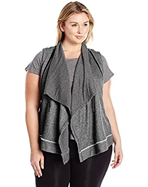 Performance Women's Plus Size Zip Shawl Collar Vest