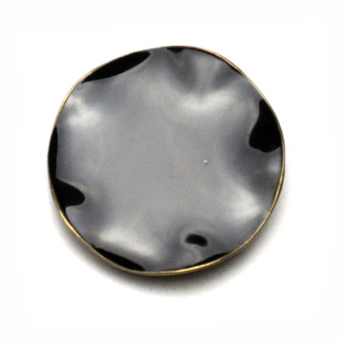 PILGRIM 347-105 Brosche, vergoldet, schwarz