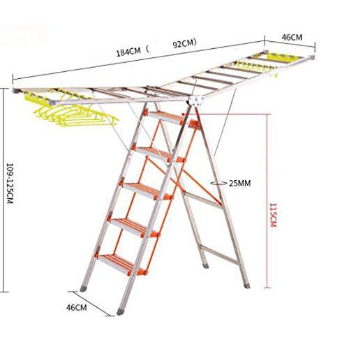 Thickened multi-function ladder racks,Indoor aluminum foldin