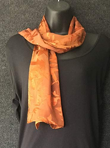 Hand Dyed Silk and Rayon Scarf
