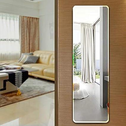 Infinite Reflections Beveled Bathroom Mirrors Wall Mounted, Modern Frameless Full Length Mirror for Bathroom, Bedroom, Living Room Hanging (12'' x 54'')