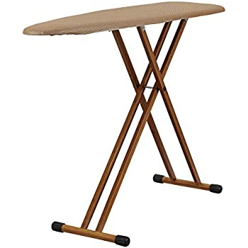 MADE IN ITALY Natural Finish Aris Multistir Folding Ironing Board In Solid Beech Wood 3 height positions