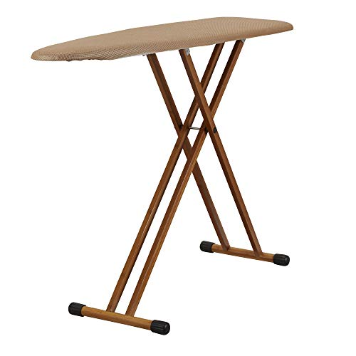 Household Essentials 801454 Ironing Board with Bamboo Legs and Polyester Mesh Cover ()