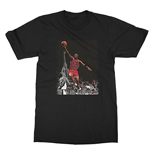 BTA Apparel Black NEW Novelty Nostelgic Michael The Shot Men's T-shirt by BTA Apparel