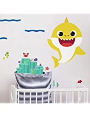 RoomMates Baby Shark Peel And Stick Giant Wall Decals   Yellow Kids Room Decor