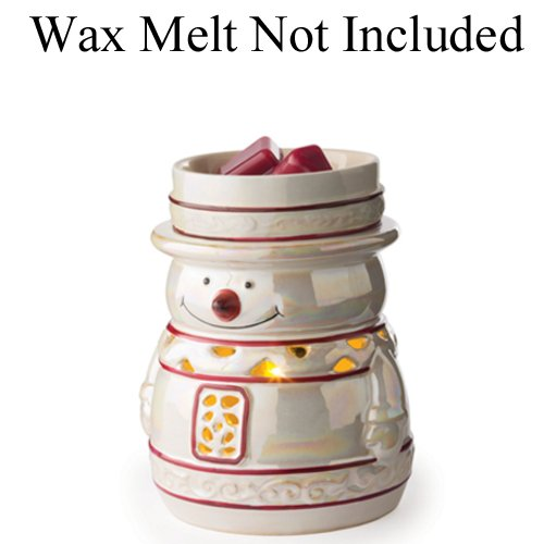 Candle Warmers Etc. 2-in-1 Flickering Fragrance Warmer, (Snowman Wax)