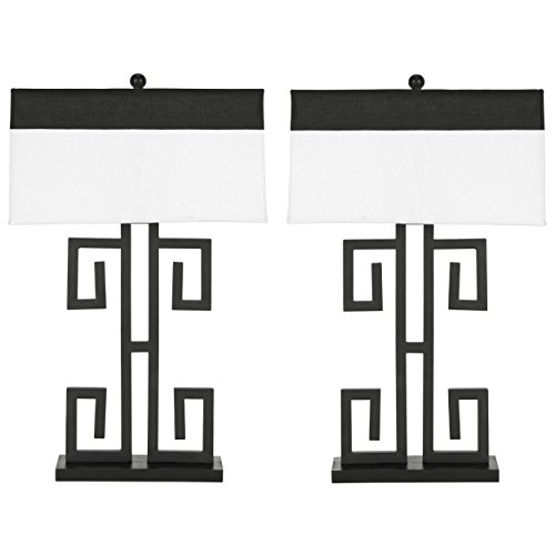 - Safavieh Lighting Collection Greek Key Black 28-inch Table Lamp (Set of 2)