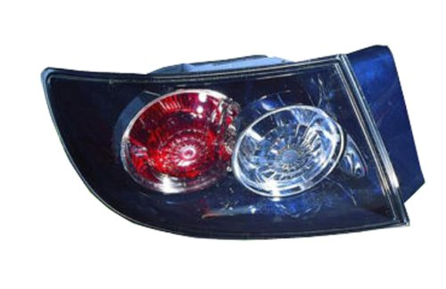 Mazda 3 Sedan Replacement Tail Light Assembly (Standard Type, Outer) - Driver Side (Mazda 3 Driver)