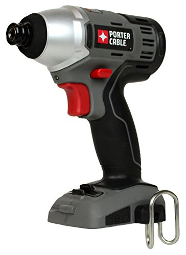 PORTER-CABLE Bare-Tool PC1801ID 18-Volt 1/4 inch Hex Drive Cordless Impact Driver (Tool Only, No Battery)